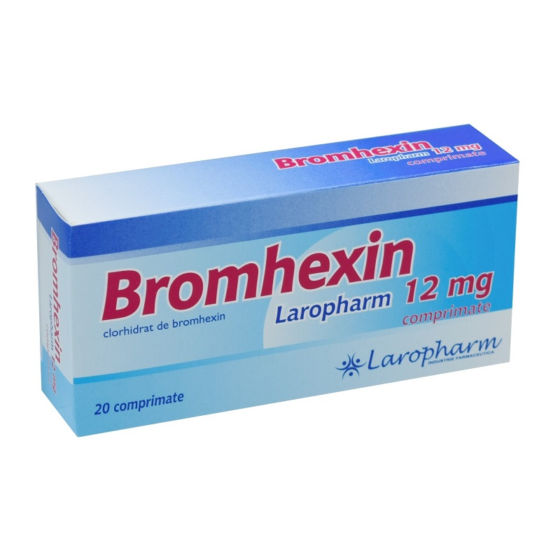 Bromhexin 12 mg, 20 comprimate, Laropharm