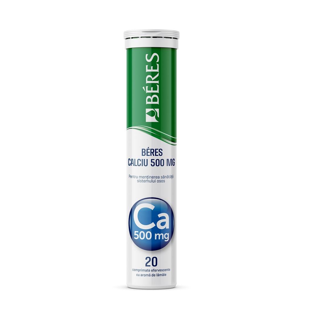 Calciu 500mg, 20 comprimate efervescente, Beres Pharmaceuticals