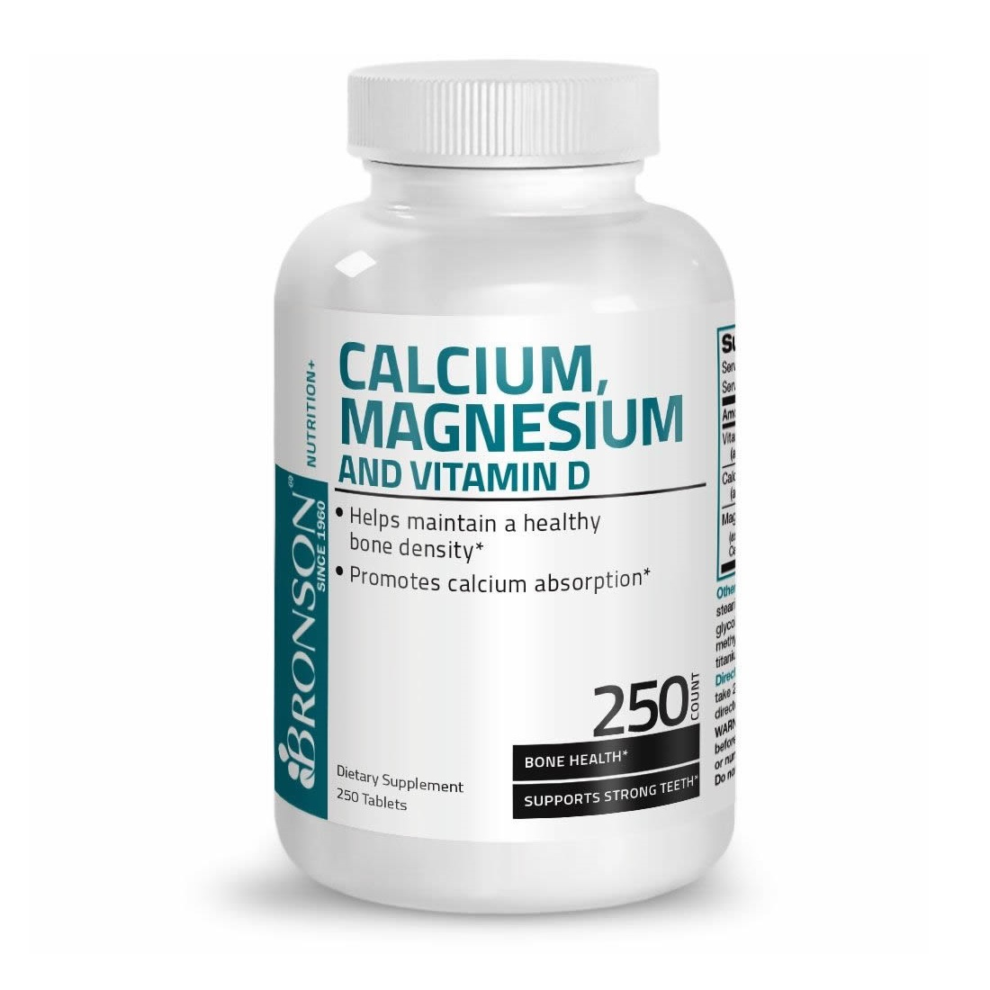 Calciu, Magneziu si Vitamina D3, 250 tablete, Bronson Laboratories