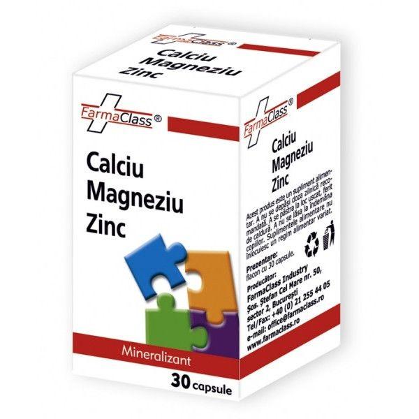 Calciu Magneziu Zinc, 30 capsule, FarmaClass