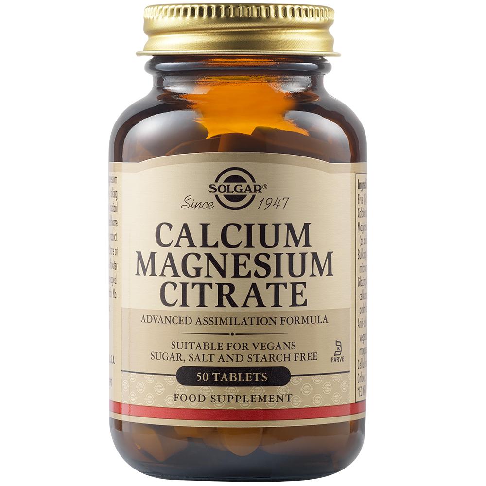 Calcium Magnesium Citrate, 50 tablete, Solgar