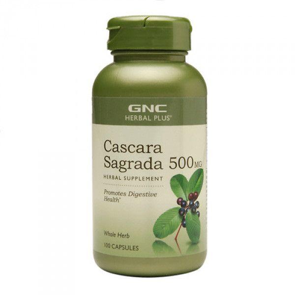 Cascara Sagrada 500 mg Herbal Plus (197122), 100 capsule, GNC