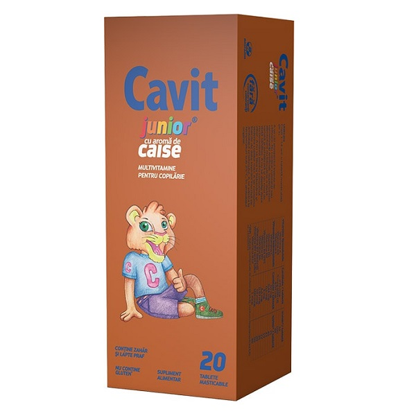 Cavit Junior caise, 20 tablete, Biofarm