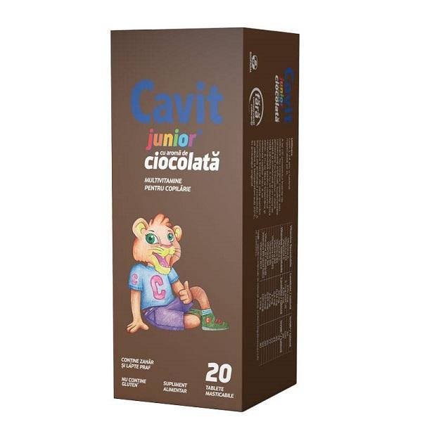 Cavit Junior ciocolată, 20 tablete, Biofarm