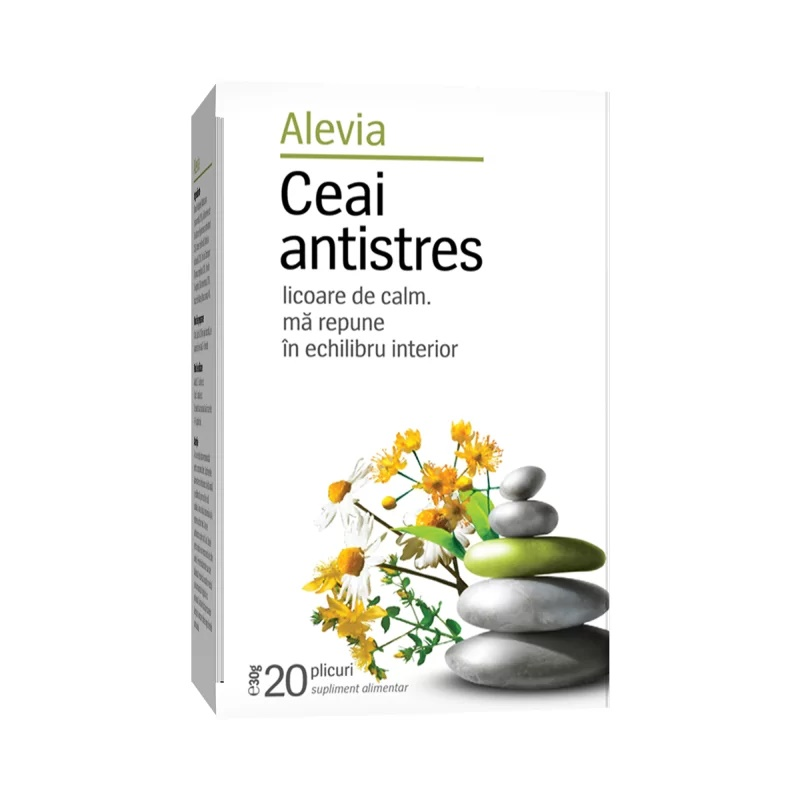 Ceai antistres, 20 plicuri, Alevia