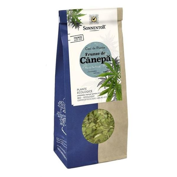 Ceai Bio din funze de Canepa, 40 g, Sonnentor
