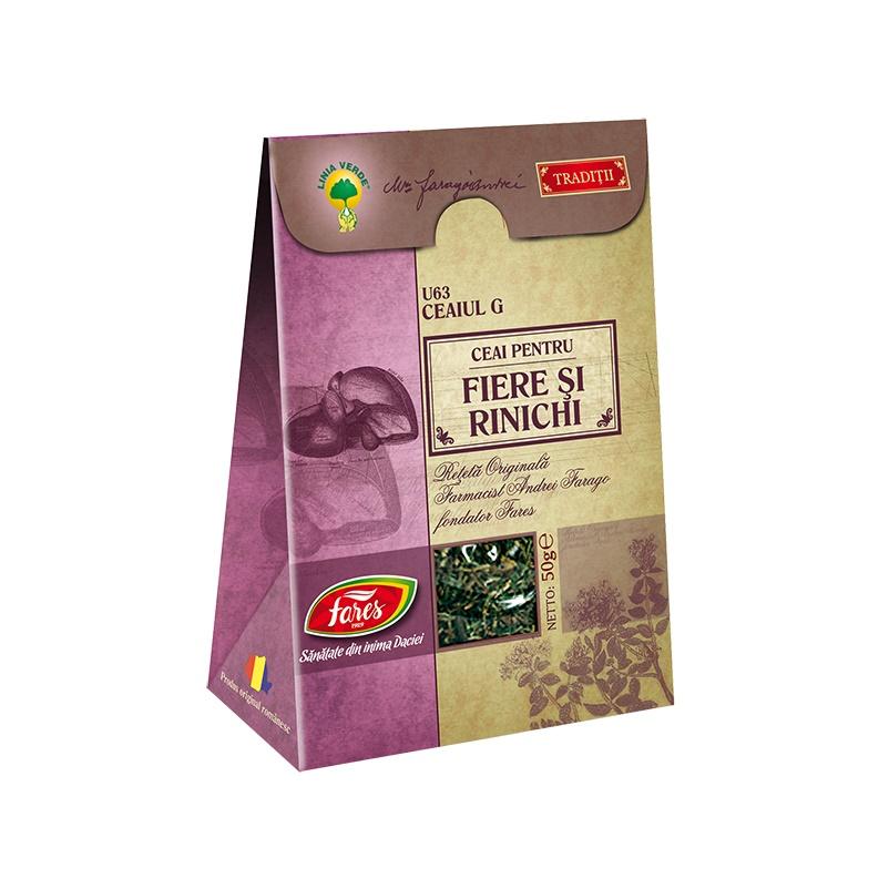 Ceai Fiere si Rinichi, U63, 50 g, Fares