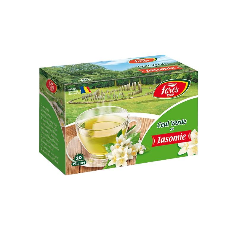 Ceai verde cu iasomie, 20 plicuri, Fares