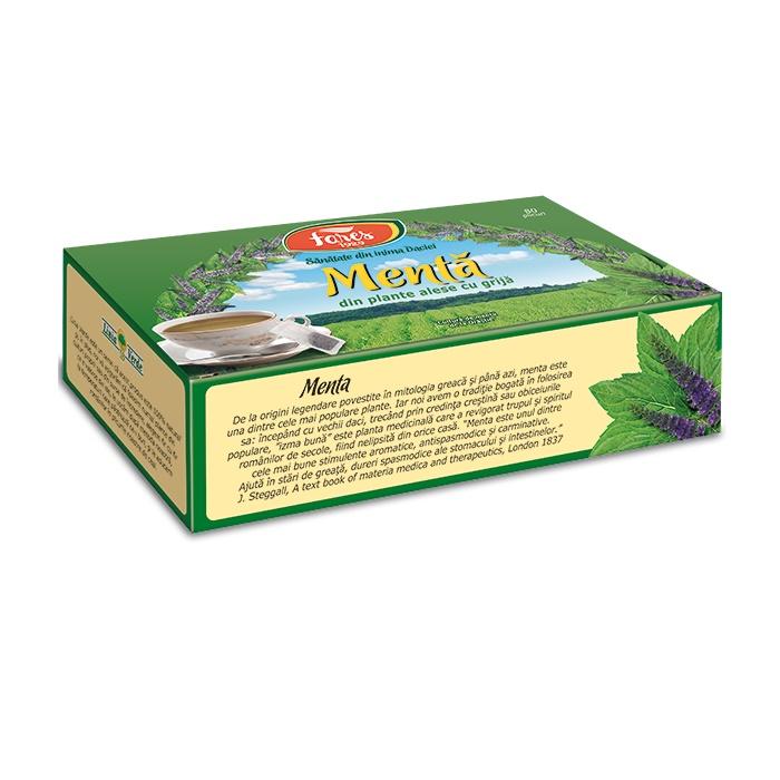 Ceai de mentă, 80 plicuri, Fares