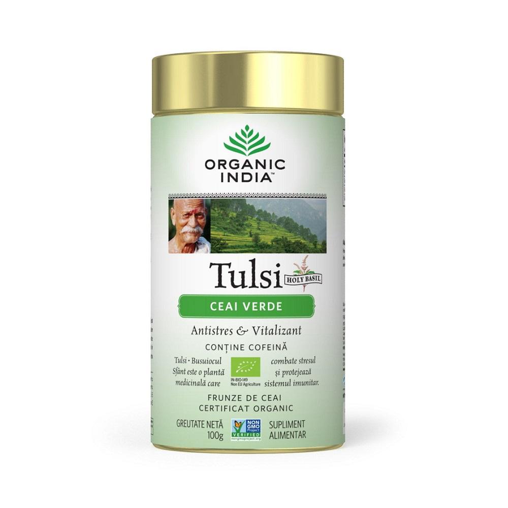 Tulsi Ceai Verde, 100 g, Organic India