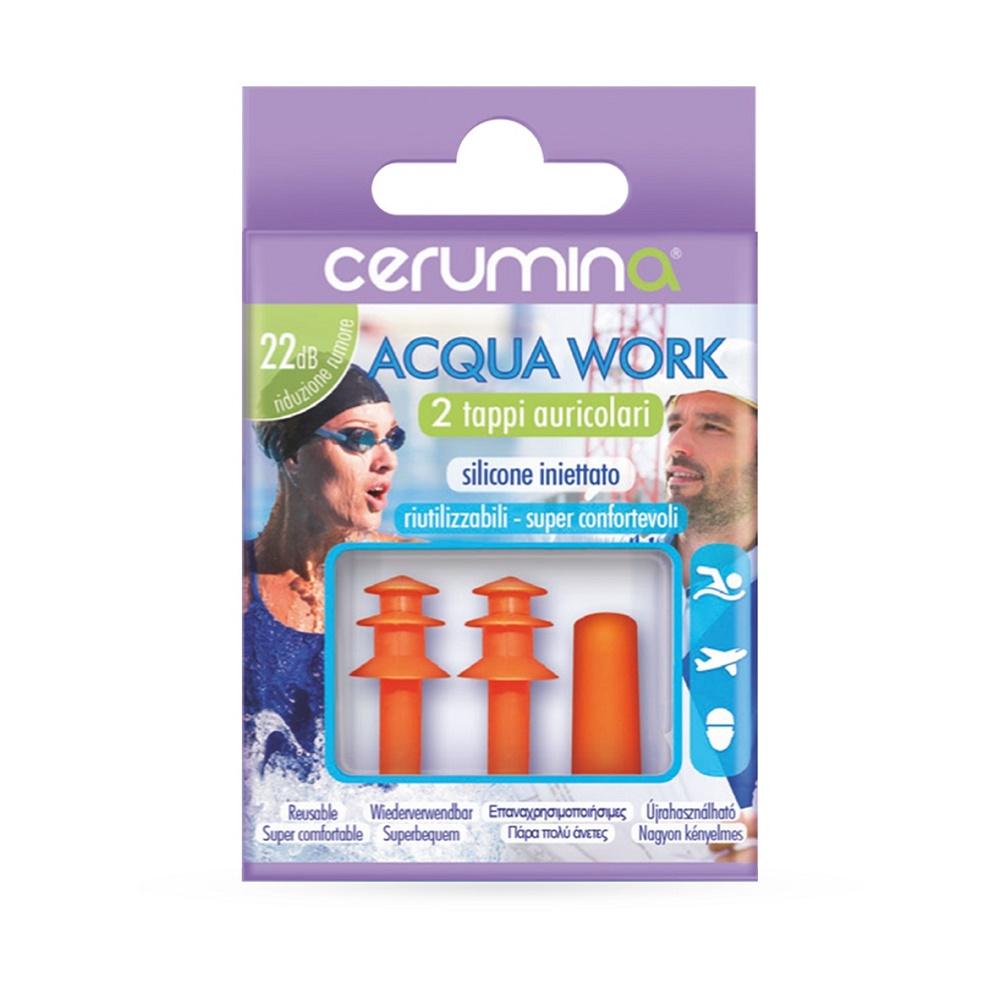 Cerumina AQUA WORK – dopuri pentru urechi din silicon injectat , 2 bucati, Pietrasanta Pharma