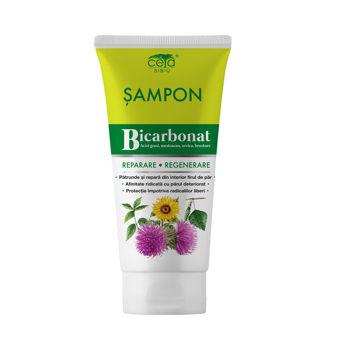 Șampon regenerare și protecție cu bicarbonat, 200 ml, Ceta Sibiu