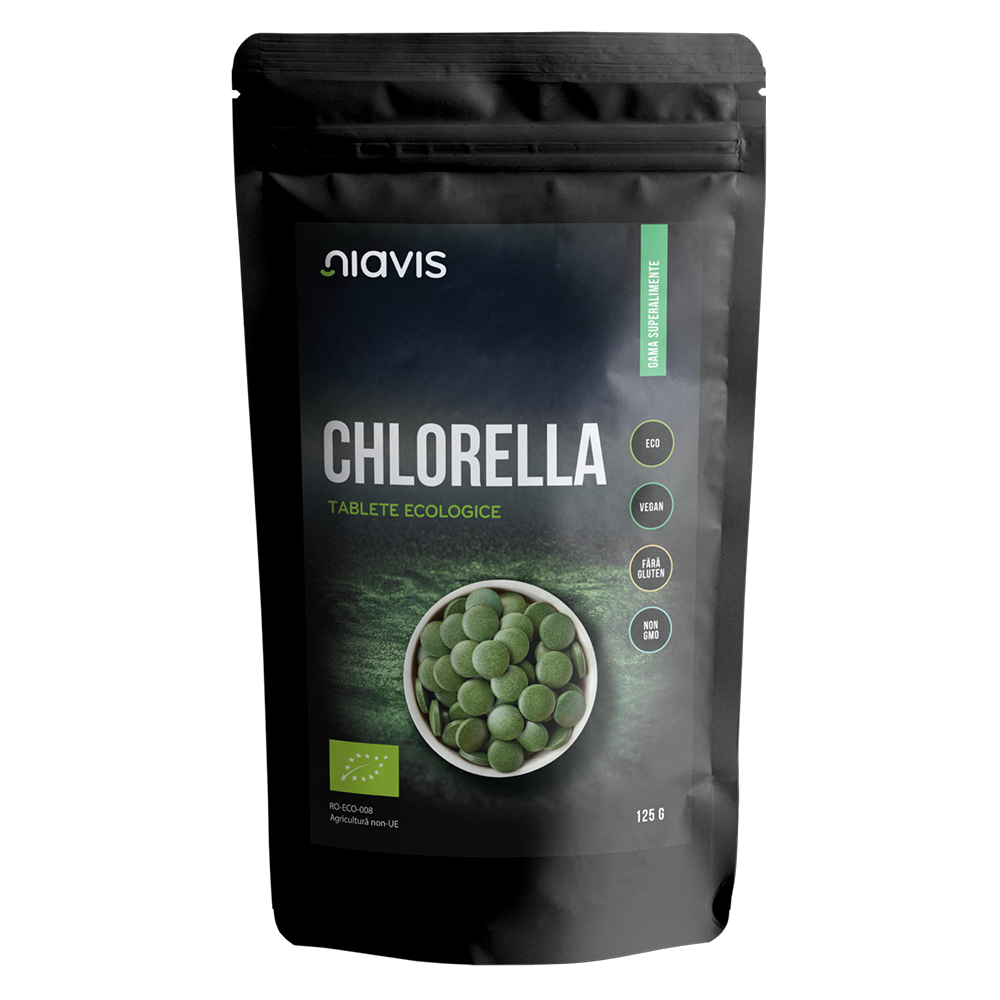 Chlorella teblete ecologice, 125 g, Niavis