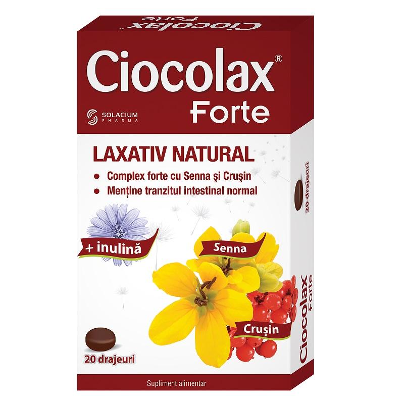 Ciocolax Forte, 20 drajeuri, Solacium Pharma