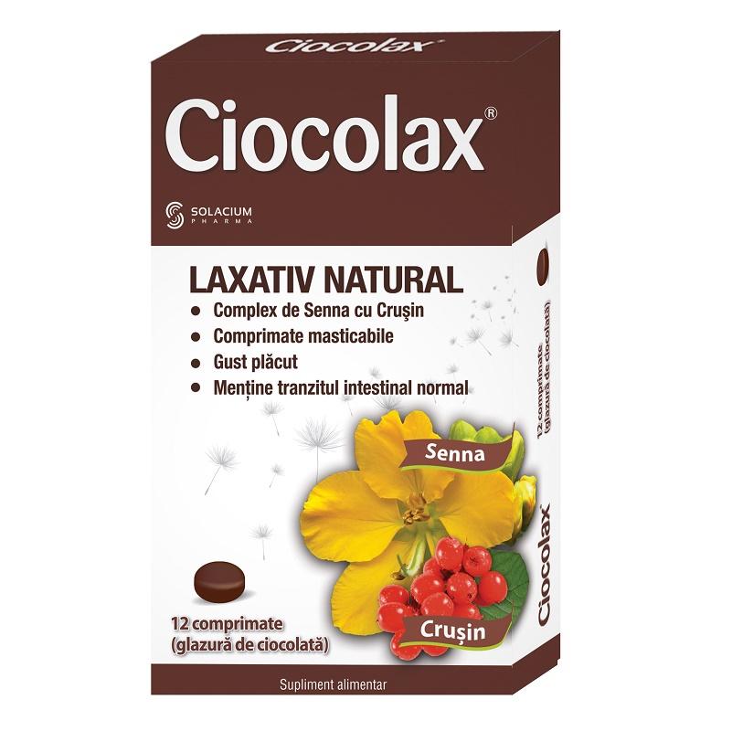 Ciocolax laxativ natural, 12 comprimate, Solacium Pharma