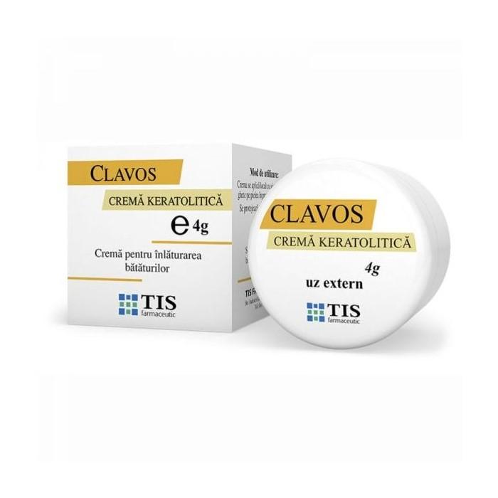 Cremă keratolitică pentru îndepărtarea bătăturilor Clavos, 4 g, Tis Farmaceutic