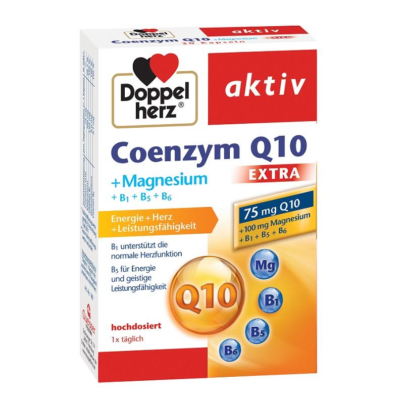 Coenzima Q10 Extra + Magneziu + B1 + B5 + B6, 30 capsule, Doppelherz