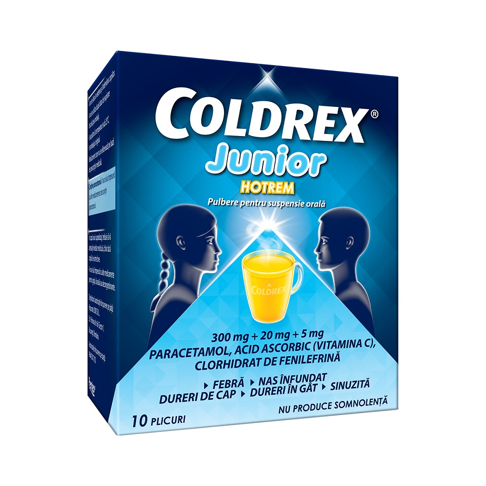 Coldrex Junior Hotrem, 10 plicuri, Perrigo