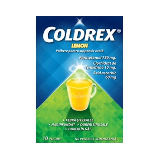 Coldrex Lemon, 10 plicuri, Perrigo