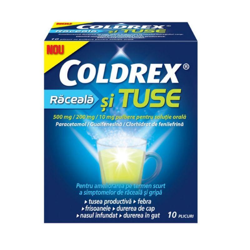 Coldrex Raceala Si Tuse, 10 plicuri, Perrigo