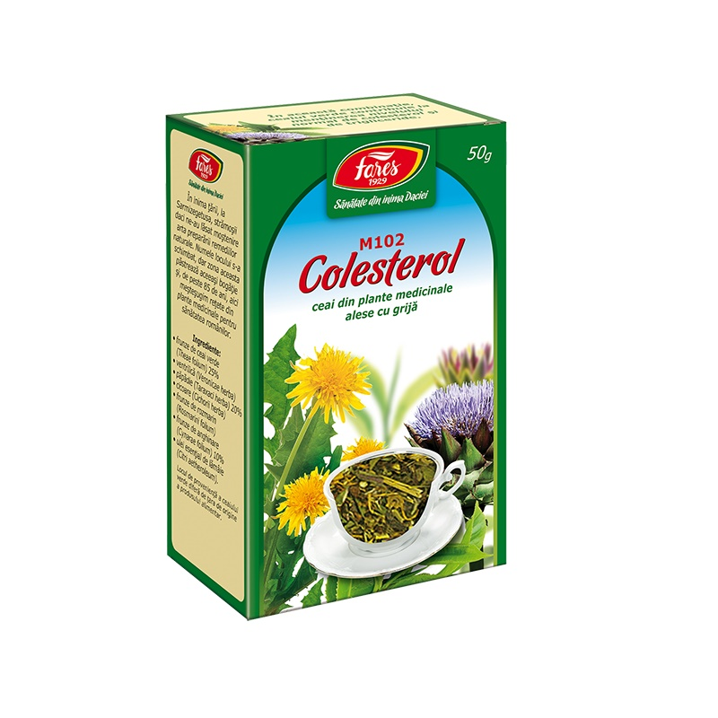 Ceai Colesterol, M102, 50 g, Fares