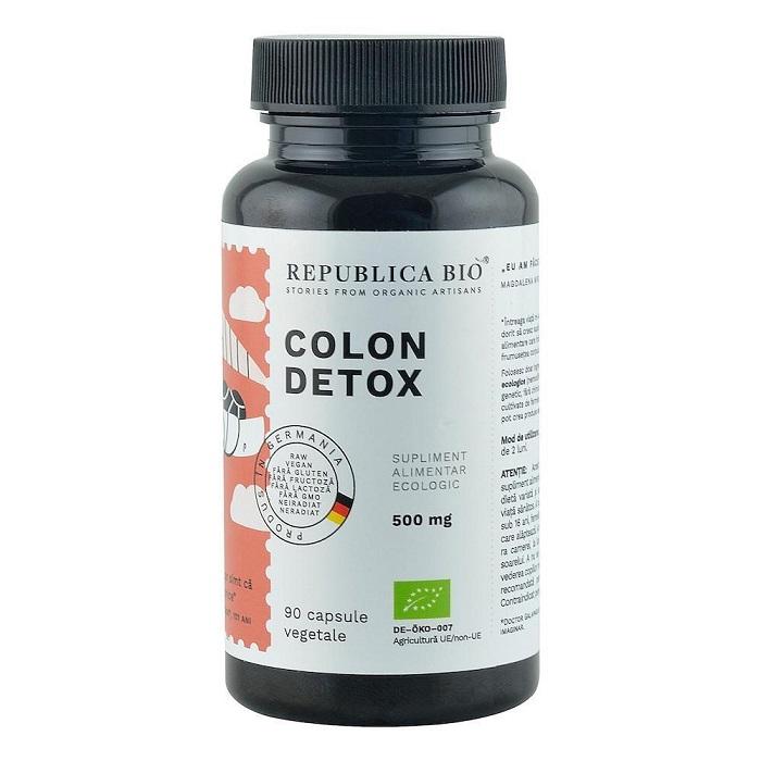 Colon Detox, 90 capsule, Republica Bio