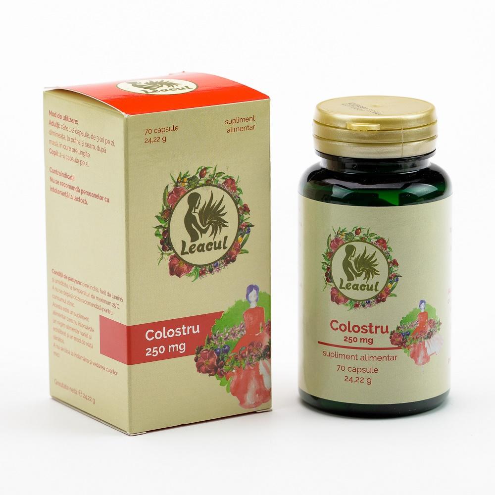 Colostru 250 mg Leacul, 70 capsule, Solaris