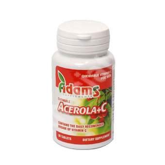 Acerola+C, 30 tablete, Adams Vision
