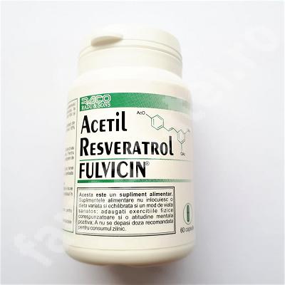 Acetyl Resveratrol cu Fulvicin, 60 capsule, Raco