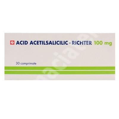 Acid Acetilsalicilic 100 mg, 30 comprimate, Gedeon Richter România