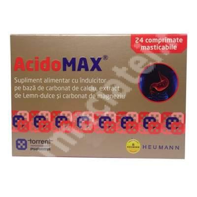 AcidoMax, 24 comprimate masticabile, Torrent