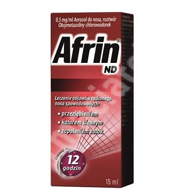 Afrin aerosol nazal spray, 15 ml, Schering Plough