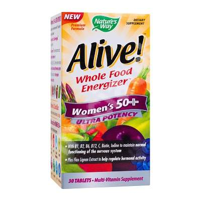 Alive Once Daily Women 50+ Ultra Nature's Way, 30 tablete, Secom
