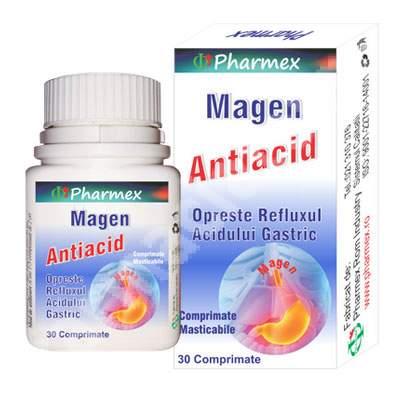 Antiacid Magen, 30 compriamte, Pharmex
