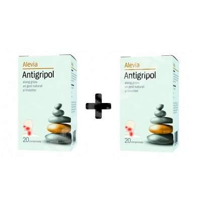 Antigripol, 20 + 20 comprimate, Alevia (1 + 1)