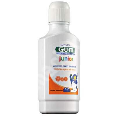 Apă de gură Junior Rinse, 7-12 ani, 300 ml, Sunstar Gum
