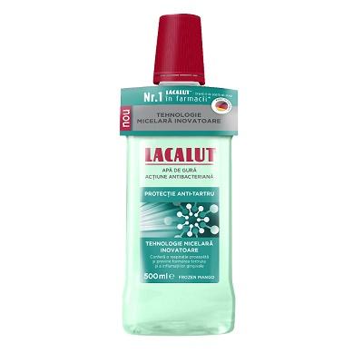 Apă de gură micelară protecție anti-tartru Lacalut, 500 ml, Theiss Naturwaren