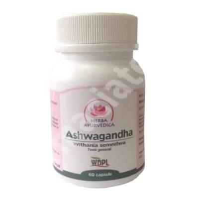 Ashwagandha, 60 capsule, Herba Ayurvedica