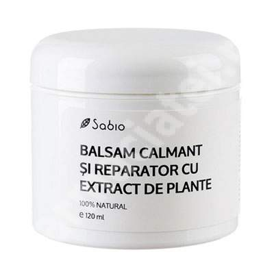 Balsam calmant și reparator cu extract de plante, 120 ml, Sabio