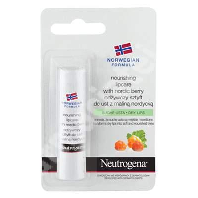 Balsam pentru buze uscate si crapate cu Nordic Berry Neutrogena, 4.8 g, Johnson&Johnson