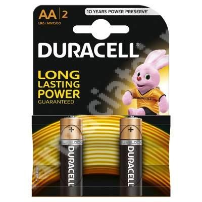 Baterii Basic AA, 2 bucăți, Duracell