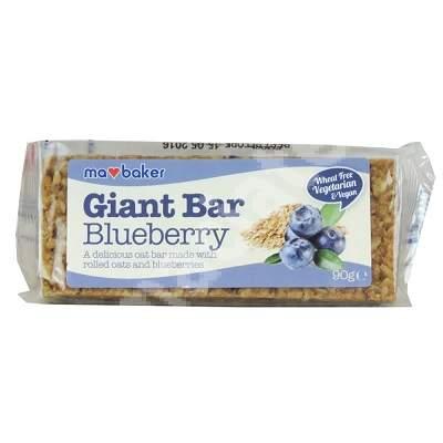 Baton de ovaz cu Afine Giant Bar Ma Baker, 90 g, KingsBake