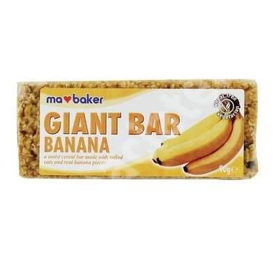 Baton de ovaz cu banane Ma Baker, 90 g, Kingsbake