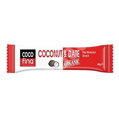 Baton organic cu cocos si curmale CocoFina, 40 g, Activ Pharma Star