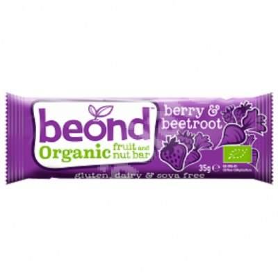 Baton organic cu fructe de padure si sfecla, 35g, Beond