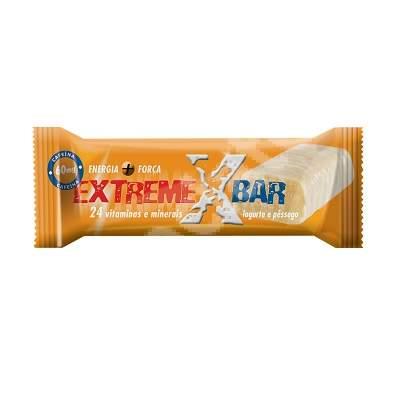 Baton proteic energizant Extreme cu aroma de iaurt si piersici, 46 g, Gold Nutrition