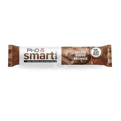 Baton proteic PhD Smart Bar Salted Fudge Brownie , 64 g, PhD Nutrition