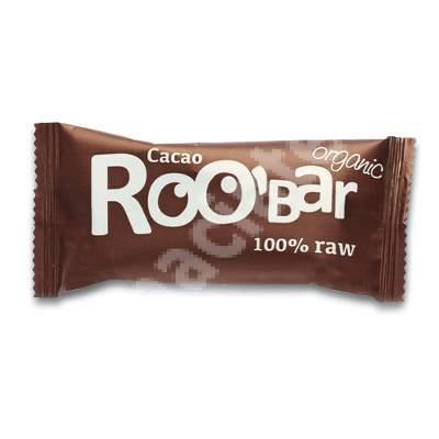 Baton raw Bio cu cacao Roobar, 50 g, Dragon Superfoods