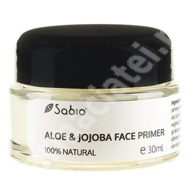 Bază de machiaj cu Aloe și Jojoba, 30 ml, Sabio