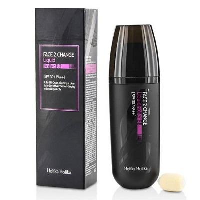 BB Cream lichid cu aplicator roller SPF30 PA++ Face 2 Change nuanța 21, 30 ml, Holika Holika